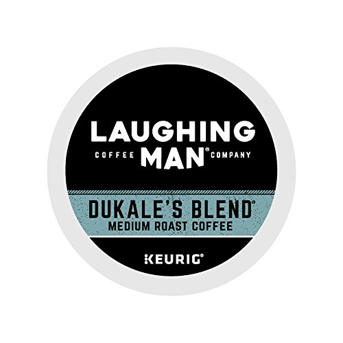 Laughing Man Dukale's Mix Single-Serve Recyclable K-Cup Coffee Pods, Hugh Jackman Dark Roast Arabica Coffee for use with Keurig Coffee Makers, 60 Count (6 Boxes of 10 Pods)
