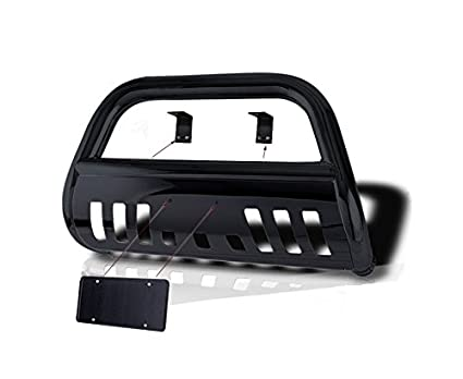 Powder Coated Black with Stainless Skid Plate Hunter QT-906 Classic Bull Bar for 98-04 Toyota Tacoma