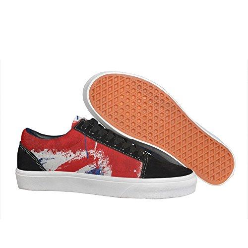 british UK flag painting man.men.sportsman Casual sneakers shoes Skateboard slip on Fashion Print ()