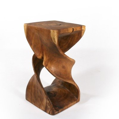 Double Twist Stool in Walnut