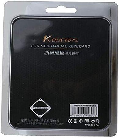 SSSLG Teclado keycap, PBT Plateado 12 Teclas retroiluminado ...