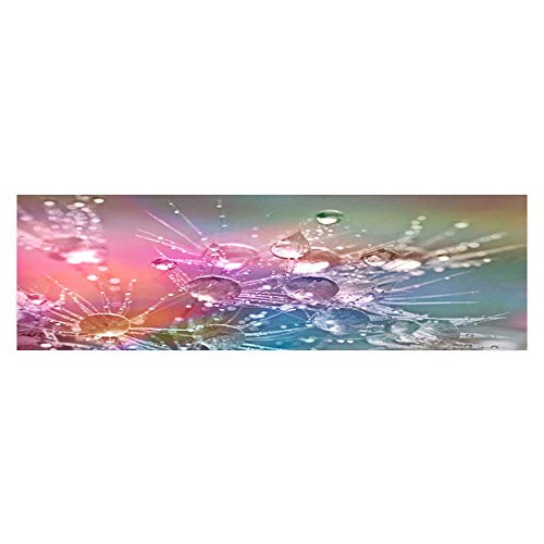 Leighhome Decorative Aquarium Glittering and Translucent Beads of Dandelion Aquarium Sticker Wallpaper Decoration L23.6 x H19.6 ()