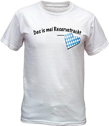 Wiesn T-Shirt - Des is mei Reservetracht - lustiges Bayerisches Sprüche Shirt ideal für's Oktoberfest statt Lederhose und Dirndl