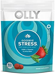 Olly Goodbye Stress Gummy, 30 Day Supply (60 Gummies), Berry Verbena, GABA, L Theanine, Lemon Balm, Chewable S