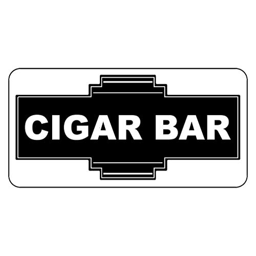 - New Great Plastic Sign Cigar Bar Black Office Sign for Outdoor & Indoor 3x8 Inch