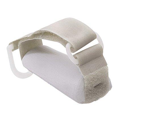 Sammons Preston Plastic Base Utensil Holder Strap, Adjustable Gripping Strap for Holding Utensils with Angled Plastic Base for Palm, ADL Eating Aid for Weak Grip & Limited Mobility