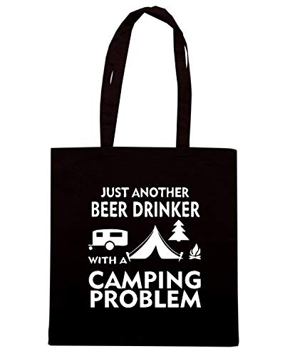 Speed Shirt Borsa Shopper Nera WES0028 CAMPING BEER
