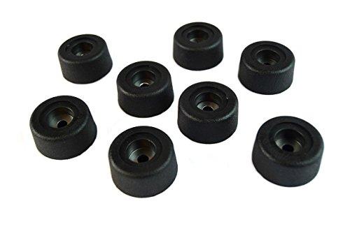 (8) Round Cabinet Black Rubber Instrument Case Speaker Box Feet 1.5