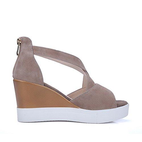 Sandalia con Albaricoque Zapatillas Mujer Peep Toe transparente Sandalias con Cuña sin Respaldo Sandalias con Plataforma Sandalias h7pZl1cHb