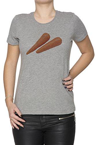Carotte Gris Coton Femme T-shirt Col Ras Du Cou Manches Courtes Grey  Women s T 4f0c6adff55