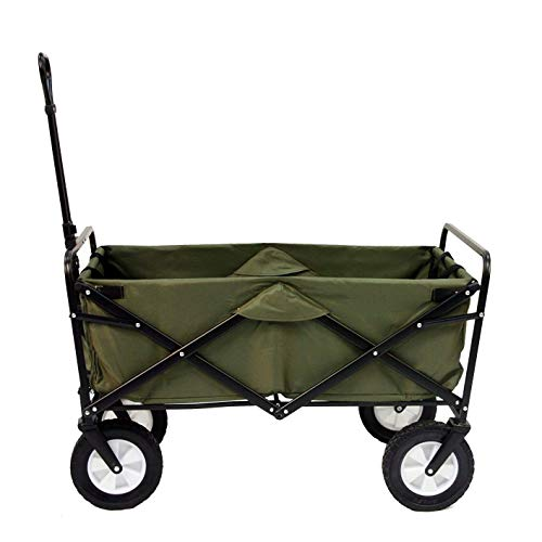 Mac Sports Collapsible Folding Outdoor Utility Wagon, Green (Certified - Delivery Wagon