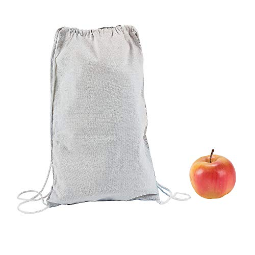 Fun Express - DIY White Canvas Backpacks 12 pc - Craft Kits - DYO - Fabric - Apparel - 12 Pieces ()
