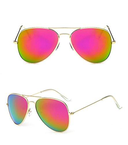5 Metal Gafas Color Sol de 7 Yxsd Marco de para Hombre Aviador protección de SunglassesMAN UV400 de con PqZa5Ax