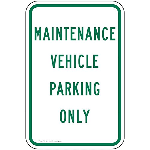 ComplianceSigns Aluminum Parking Control Sign, Reflective 18 x 12 in. with Parking Reserved info in English, ()