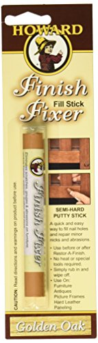 - Howard FS3001 Finish Fixer Semi-Hard Putty Stick, Golden Oak
