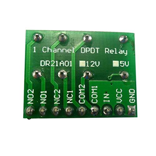 Mini DC 12V DPDT Double-Throw Relay Module Anti-polarity Switch Board Motor ()
