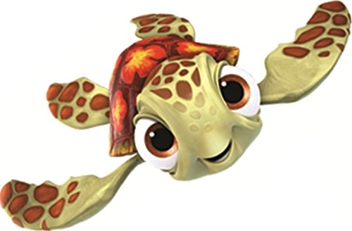 5 Inch Squirt Turtle Finding Nemo 2 Movie Removable Peel Self Stick Wall Decal Sticker Art Bathroom Kids Room Walt Disney Pixar Home Decor Boys Girls 5 inches wide by 2 1/4 inches tall ()