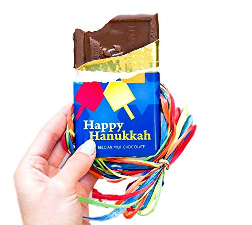 Hanukkah 4 Piece Real Milk Chocolate Bar Set