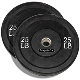 25 Pound Solid Rubber Bumper Plates Pair