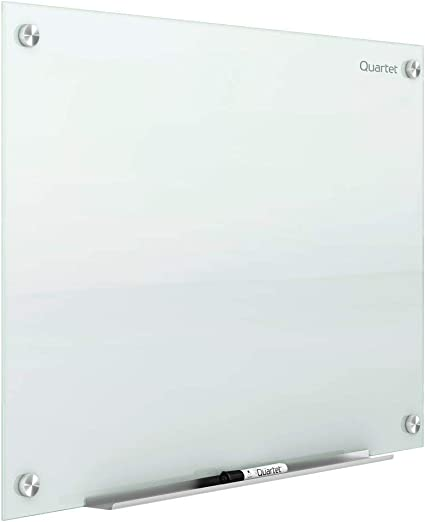 Infinity White Surface Magnetic Dry Erase White Board G4836W 4 x 3 Quartet Glass Whiteboard