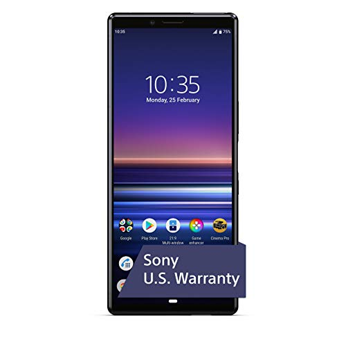 Sony Xperia 1 Unlocked Smartphone 6.5 4K HDR OLED CinemaWide Display, 128GB - Black - (US Warranty)