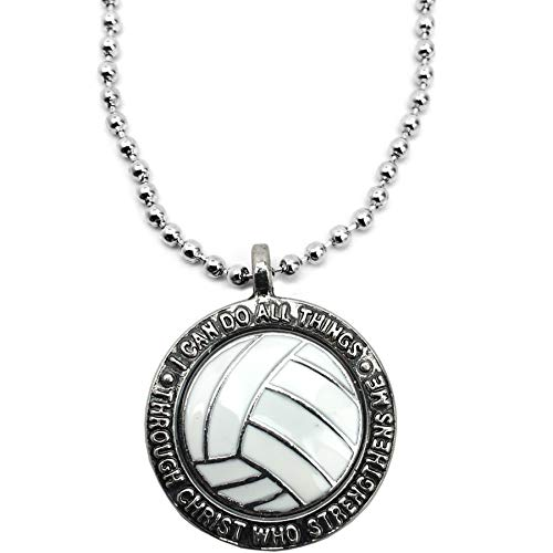 Forgiven Jewelry Volleyball Necklace I Can Do All Things Through Christ