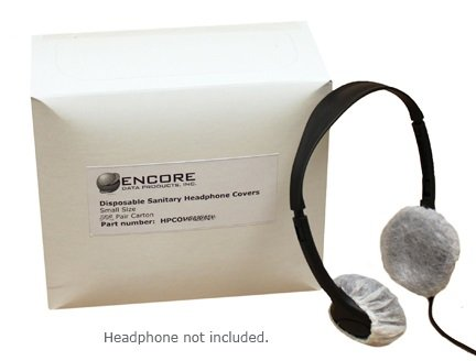 Disposable Sanitary Headphone Covers for On-ear Headphones Carton of 250 Pair (500 pcs.)