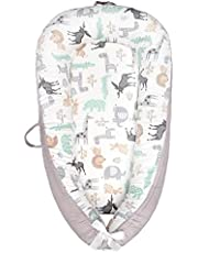 Eaarliyam Baby Recliner Pod 100% Cotton Breathable Detachable Comfortable Portable Travel Crib for 0-18M Toddlers