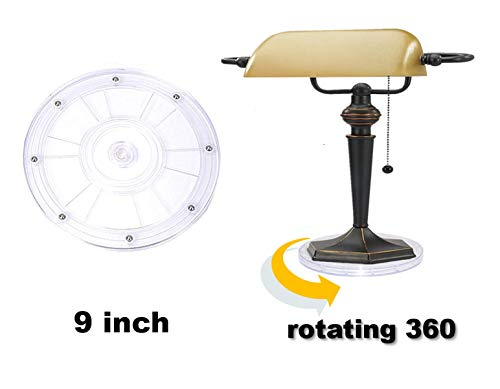 QBOSO 9 inch Acrylic Lazy Susan Turntable Turning Table Spice Rack Perfet for Cabinet or Refrigerator,Rotating Base for Makeup Organizer ,Monitor,TV,Heavy plants or Commercial Use( 1pc,Clear) (Lazy Commercial Susan)