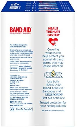 41arRiYLavL. AC - Band-Aid Brand Adhesive Bandage Family Variety Pack In Assorted Sizes Including Water Block, Sport Strip, Tough Strips, Flexible Fabric And Disney Bandages For First Aid And Wound Care, 120 Ct