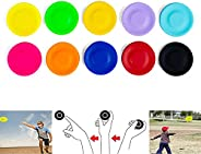 TDNE Frisbee Pocket Mini Flying Disc Hand-Push Flexible Soft Sports Flying Disks Outdoor Games for Adults and