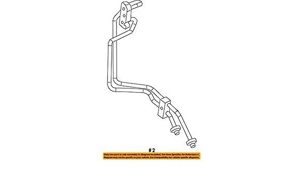 Mopar 5201 4546AA Auto Trans Oil Cooler Hose