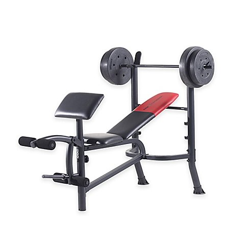 Perfect for Home Workouts Adjustable Weider Pro 265 Standard Bench by Generic