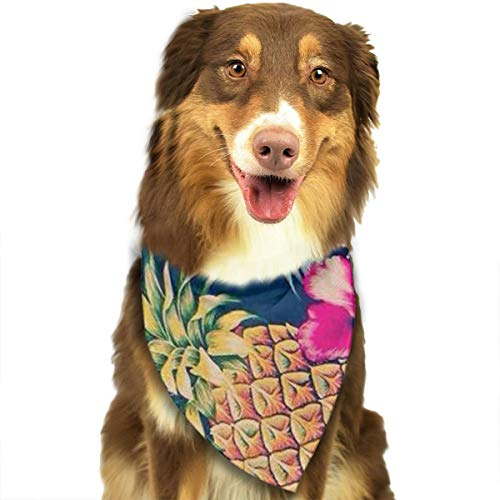 TLDRZD Hawaiian Flower Party Dog Bandanas - Washable and Reversible Triangle Cotton Dog Bibs Scarf Assortment Suitable for Puppy Small and Medium Pet