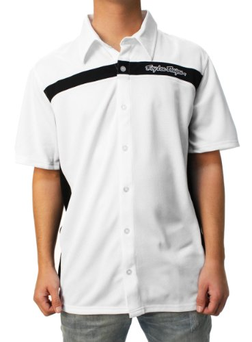 [Troy Lee Designs Men's Button Down Pit Shirt-Large] (Troy Lee Designs Pit Shirt)