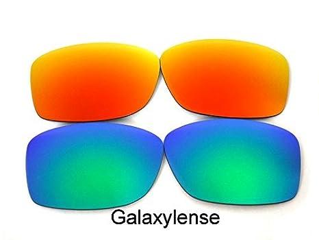 Galaxylense Verres De Rechange Pour Oakley Jupiter Squared vert   rouge  polarisé 2 Paires 71ea5312300c
