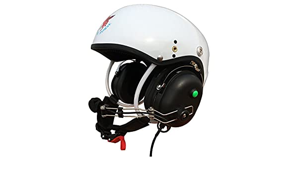 Amazon.com : Professional Communication Helmet for Powered Paragliding and Paramotor (White) Size:L : Sports & Outdoors