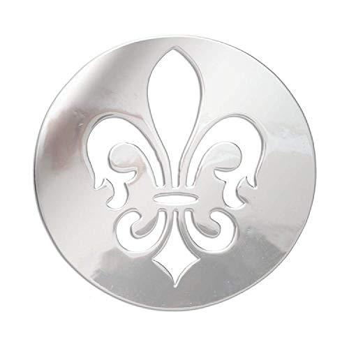 (Lucet Mundi Silvertone 'Fleur De Lis' Coin for Interchangeable Locket Pendant)