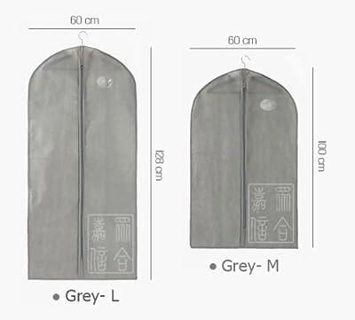 2pcs (1pc M+1pcs L)GohEunGyung shop Suit Cover Coat Clothe Garment Zipper Bags Dustproof Storage Hanger Protector
