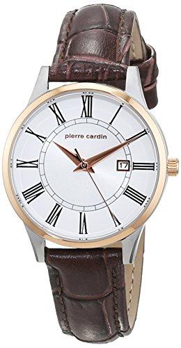 design de qualité 968d2 b2598 Pierre Cardin Femme 35mm Bracelet Cuir Marron Boitier Acier ...