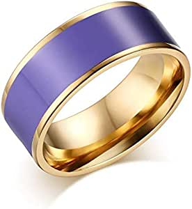 Ring for Unisex, Purple, Size 9, RS018