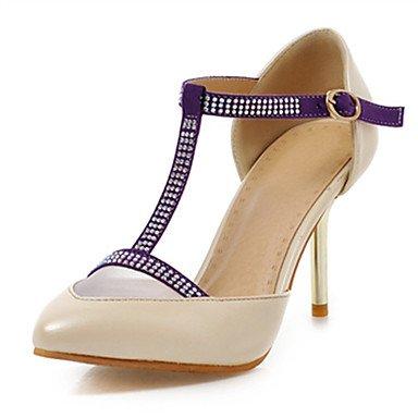 LFNLYX Sandalias mujer Primavera Verano Otoño otros PU Oficina Exterior & Carrera Stiletto talón Casual Beige Rosa Morado Otros Otros Purple