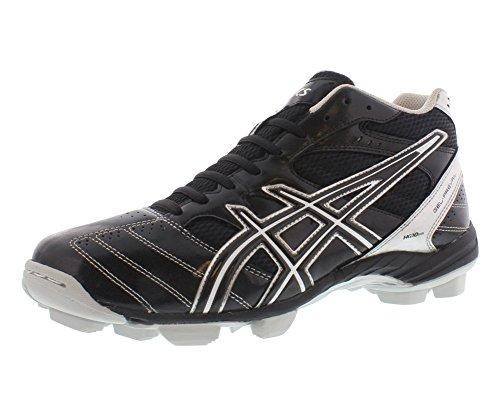 ASICS Men's GEL-Prevail Mid Lacrosse Shoe,Black/Silver,14 M US