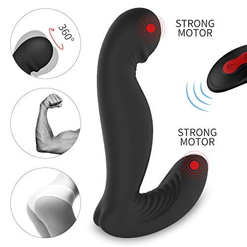 RechargeabSilicone Waterproof Vibrating Bum Anal_Beads Black- Super Soft for Mle Massager, for Relaxation Massaging Device Toy Male Beginner Message Messager with Multiple Vibrating Speed and Patterns