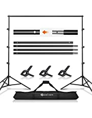 Backdrop Stand Yesker Background Support System Kit 8.5X 10ft Photo Video Studio Adjustable for Photoshoot Photography Parties Wedding with Carrying Bag