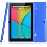Dragon Touch Y88X 7'' Quad Core Google Android 4.4 KitKat Tablet PC, Dual Camera, HD 1024x600 Multi-touch Screen, 8GB Nand Flash, Google Play & Zoodles Pre-load, 3D Game Supported (Advanced version of Y88)- Blue [By TabletExpress]