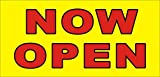 [Vinyl] 2ftX4ft NOW OPEN Banner Sign