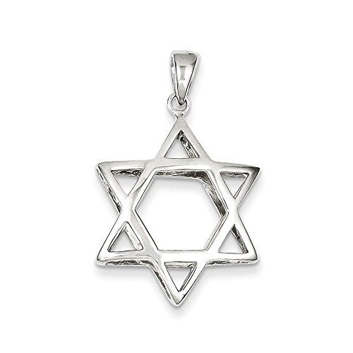 Sterling Silver Puffed Star of David Pendant (Star Sterling Puffed Silver)