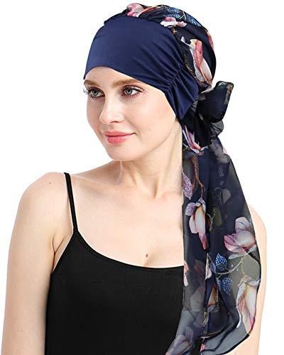 Feminine Headwear For Chemo Alopecia Ladies Turbantes Scarves Caps Scalp Headcover Sleep Hats
