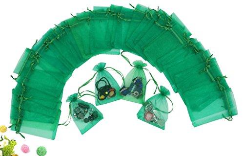 Green Organza Bags 4X6 - 5